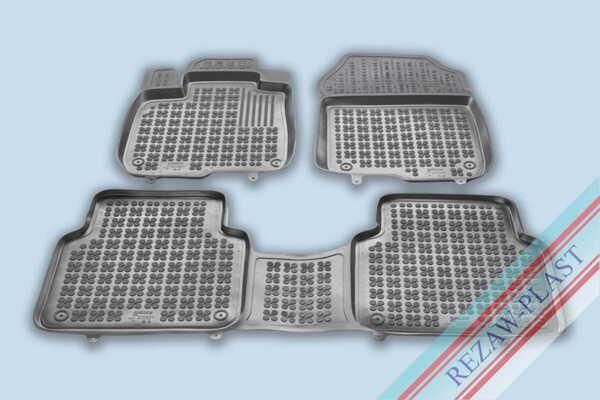 Гумени стелки за Honda CR-V V, Honda CR-V V Hybrid версия за 5 пътника, версия за 7 пътника (със сгънат 3ти ред) - след 2018 година