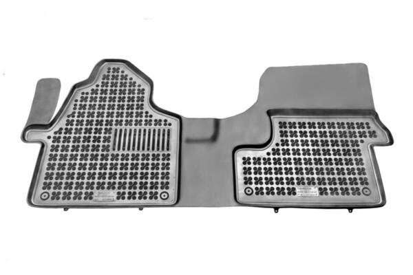 Гумени стелки за Volkswagen CRAFTER I - предни с допълнителен материал от страна на водача - от 2006 до 2016 година