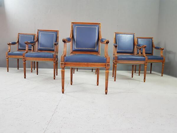 Винтидж Френски Неокласически Стол в стил Луи XVI Като Нови