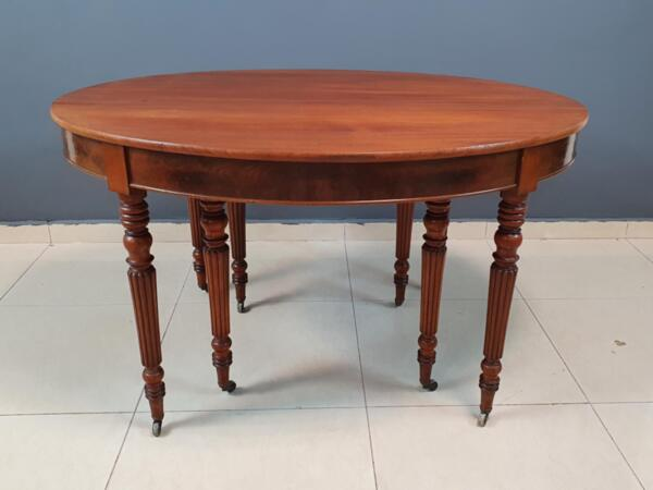 Vintage French Louis XVI Style Oval Dining Table
