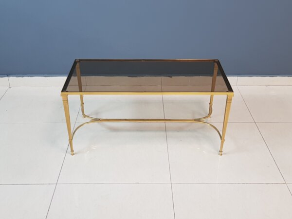 Vintage Gilded Coffee Table In The Style of Maison Bagues