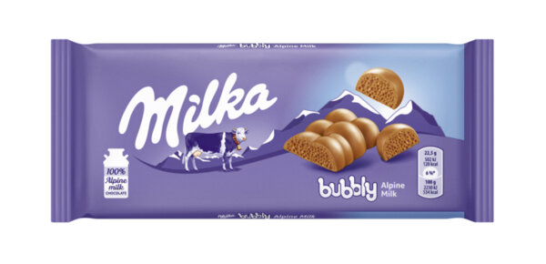 Шоколад MILKA Bubbly млечен 90 г