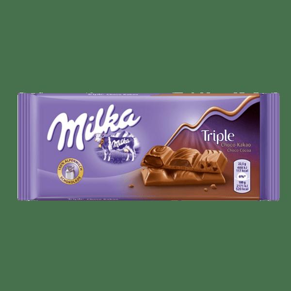 Шоколад MILKA Triple шоколад 90 г