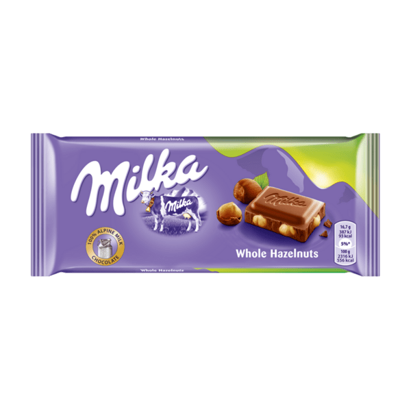 Шоколад MILKA цял лешник 100 г