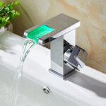 LED смесител Aquaware за баня, с индикация на температурата, хром