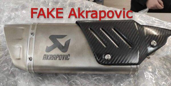 Avoid Fake Akrapovic !!!! Attention