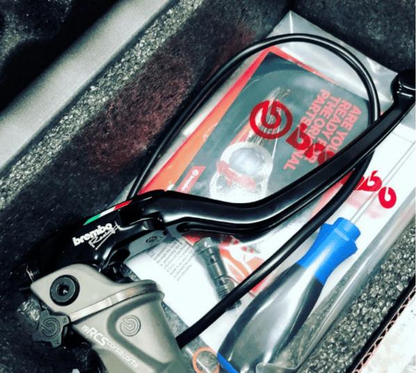 Radial master cylinder PR 16x16 (CNC machined - short lever)