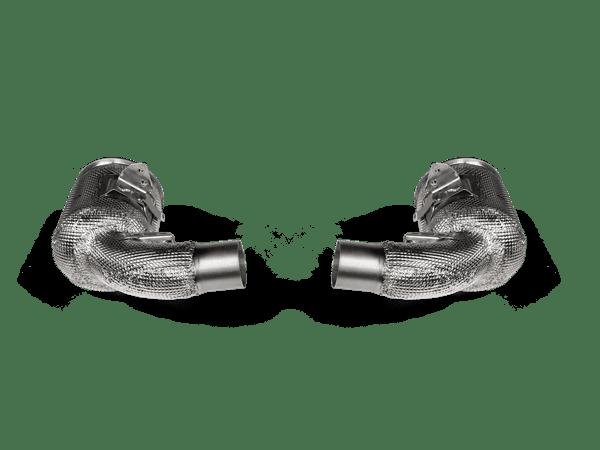 Akrapovic Link Pipe Set w Cat (SS) PORSCHE 911 TURBO / TURBO S (992) - OPF/GPF