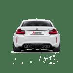 Akrapovic Rear Carbon Fiber Diffuser - High Gloss BMW M2 F87