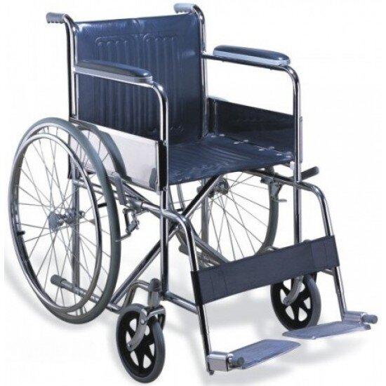 Рингова инвалидна количка със стоманена рамка - Aluminium Basic