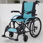 Рингова алуминиева инвалидна количка с ръчни спирачки SERENITY