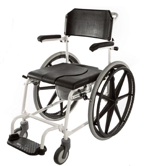Комбиниран стол за тоалет и баня Aqua Black