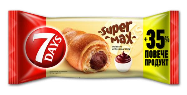 Кроасан 7DAYS Super max какао 110 г