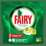 Таблетки за съдомиялна FAIRY All in One LEMON 22 бр