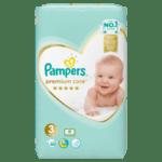 Бебешки пелени PAMPERS Premium Midi 6-10кг 60 бр.