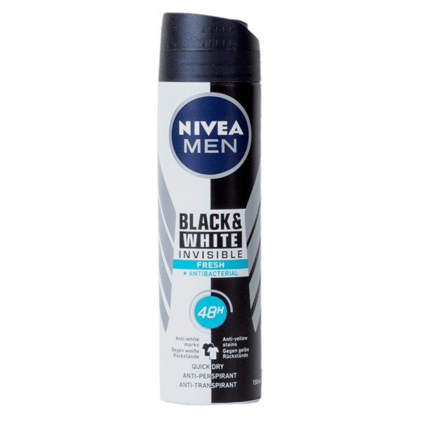 Део спрей мъжки NIVEA Invisible Black&White 150 мл