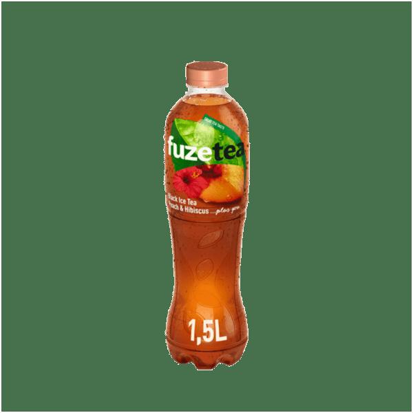 Студен чай FUZE праскова и хибискус 1.5 л