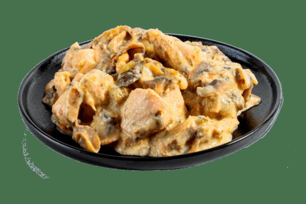Пиле с гъби