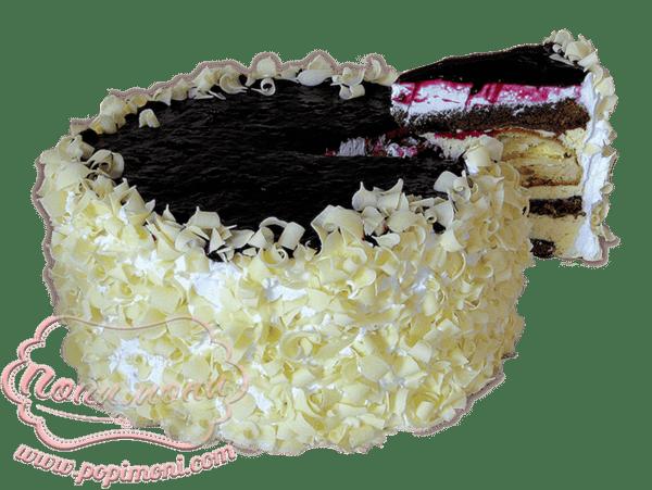 Еклерова с боровинки, 1 парче