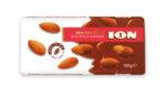 Шоколад ION млечен с цели бадеми 100 г
