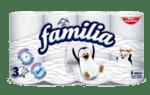 Тоалетна хартия FAMILIA бяла 3 пласта 8 броя