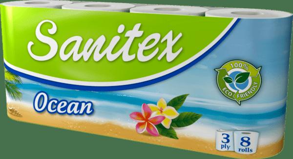 Тоалетна хартия SANITEX Ocean 8 броя