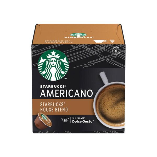 STARBUCKS House Blend от NESCAFÉ® DOLCE GUSTO кафе капсули, средно изпичане, кутия 12 капсули/12 напитки, 102g