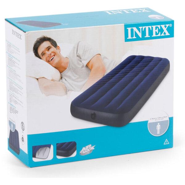 Надуваем матрак INTEX 137x191x22 см