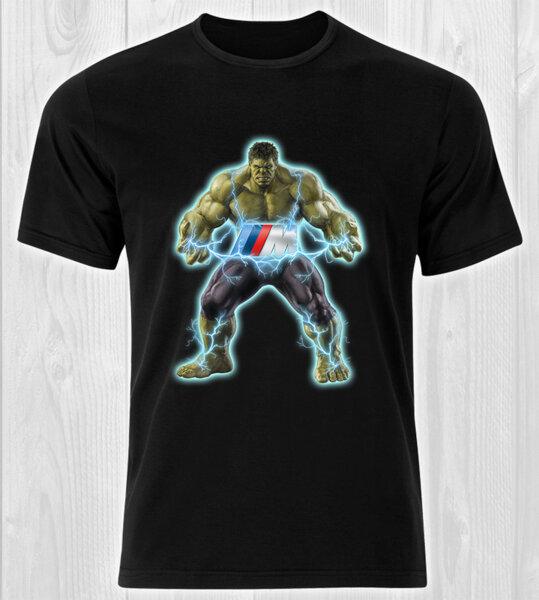 Hulk The Lightning BMW M Power Logo / CAR 438 - мъжка тениска черна