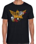 BIKERZ 2018 - мъжка тениска black cut-yellow