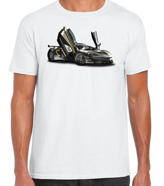 McLaren / CAR 40 - мъжка тениска бяла