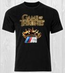 Game Of Thrones Crown BMW M Power Logo / CAR 377 - мъжка тениска черна