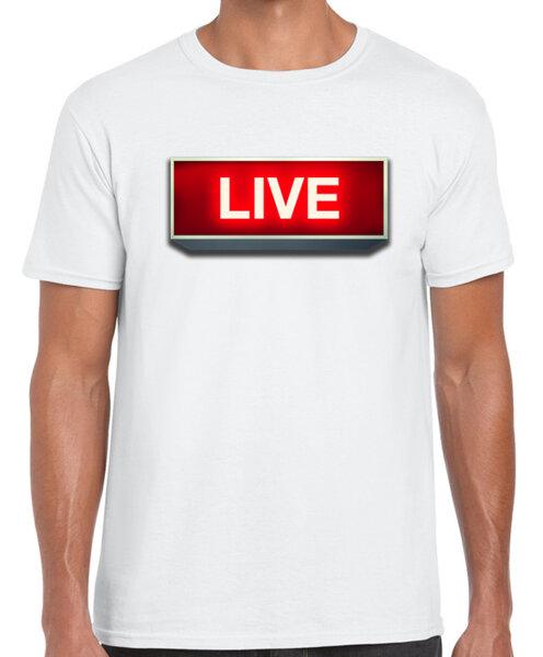 LIVE / DJ 13 - DJ / MUSIC - мъжка тениска бяла