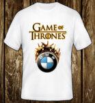 Game Of Thrones Crown BMW Logo / CAR 376 - мъжка тениска бяла
