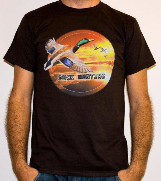 Duck Hunting / HNT 5 - Ловна мъжка тениска кафява