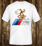 Monkey BMW M Power Logo / CAR 239 - мъжка тениска бяла