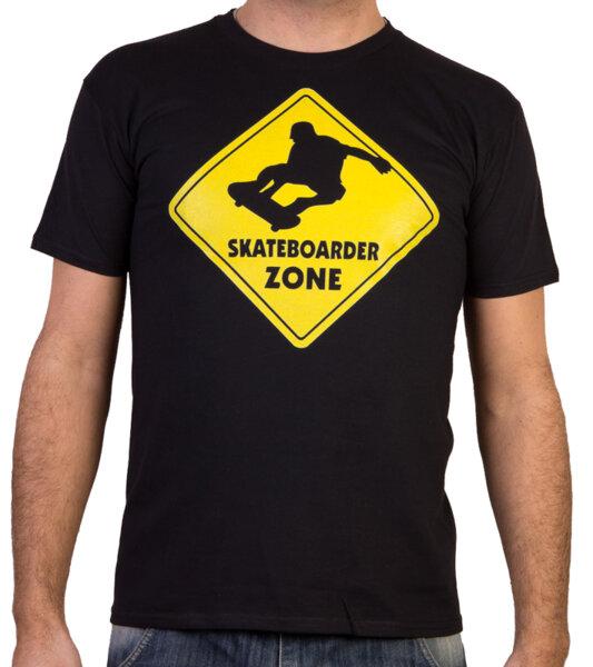 Skateboarder zone / SKT 1 - Скейтборд мъжка тениска черна