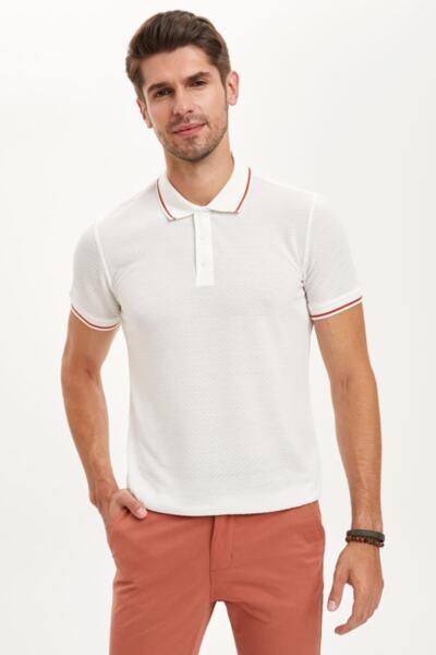 Slim Fit бяла тениска