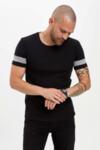 Тениска  с линии на ръкавите
