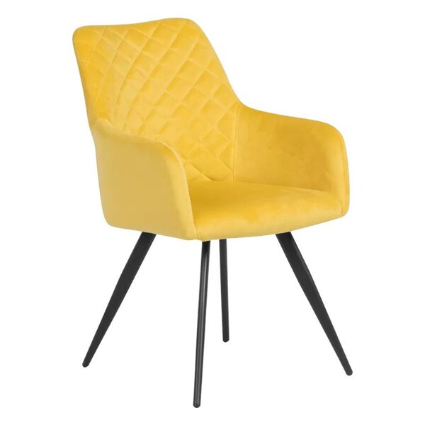 Трапезен стол ETON - светлосив и жълт