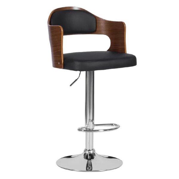 Бар стол Carmen 4045 в 3 цвята крем, орех, черен