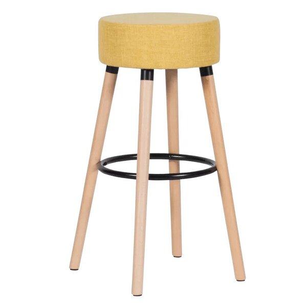 Бар стол Carmen 4025 в 4 цвята черен, кафяв, сив, жълт