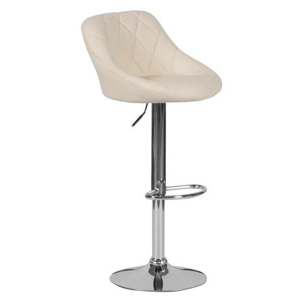 Бар стол Carmen 4020 в 3 цвята бял, черен, крем