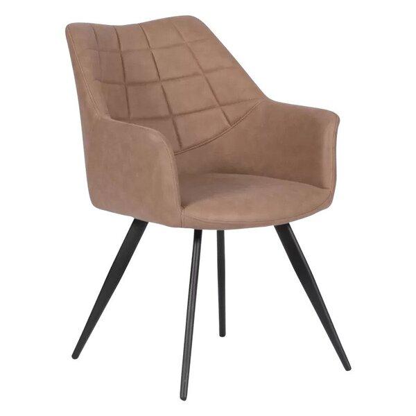 Трапезен стол FILTON в 2 цвята тъмносин и тъмнобежов