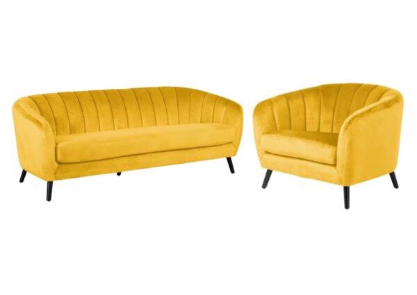 Комплект за дневна GRETA триместен диван и кресло в 3 цвята