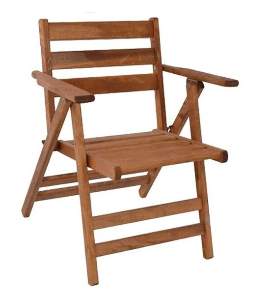 Сгъваем дървен градински стол Наксос