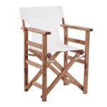 Дървен градински стол Лимнос бял