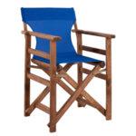 Дървен градински стол Лимнос син