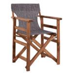 Дървен градински стол Лимнос сив