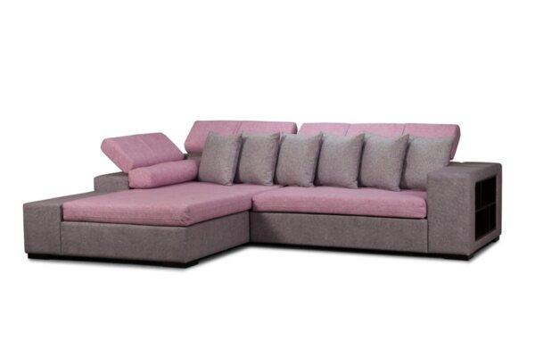 Ъглов холов диван ГЕРИ с функция сън